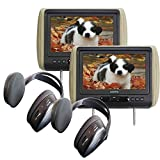 Audiovox Movies2Go - Two AVXMTGHR9HD 9' Headrest Monitor Systems w/Built in DVD Players