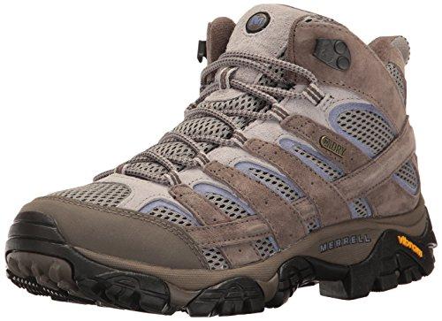 Merrell Women's Moab 2 Mid Waterproof Hiking Shoe, Falcon, 10 M US