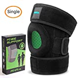 ANRI.E. Knee Brace Support for Meniscus Tear Arthritis ACL MCL LCL PCL Running Jumping Fitness Hiking – Best Adjustable Patella Stabilizer Knee Braces for Women Men (Black, One Size (12.3'-16.5'))