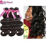 Ali Pearl Brazilian Body Wave Virgin Human Hair 3 Bundles Unprocessed Body Wave Hair 3 Bundles Hair Extentions Wholesale Hair Deal (20 20 20)