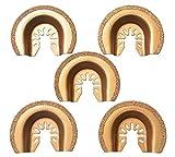 XXGO 5 Pcs Semicircle Carbide Oscillating Multi Tool Blades Universal Fits Oscillating Tools