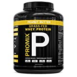 PROMIX Standard 100 Percent All Natural Grass Fed & Undenatured - Best for Optimum Fitness Nutrition Shakes & Energy Smoothie Bowls: Peanut Butter 5 lb Bulk- Look Better Naked Whey