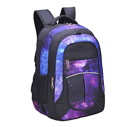 Galaxy Backpack for Girls | Kids | Teens | Fenrici | 18' | Elementary | Middle | High School | Durable | Supporting A Great Cause (FAITH, Large)