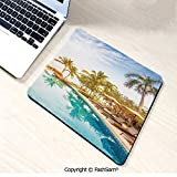 Desk Mat Mouse Pad Aerial View of A Pool in A Health Resort Spa Hotel with Exotic Elements Sports Modern Photo for Office(W9.85xL11.8)