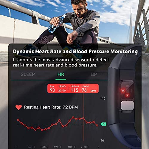 MorePro Heart Rate Monitor Blood Pressure Fitness Activity Tracker with Low O2 Reminder, IP68 Waterproof Smart Watch with HRV Sleep Health Monitor Smartwatch for Android iOS Phones 5