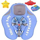 V Convey Upgrade 2nd Generation Baby Infant Soft Solid Non-Inflatable Float Lying Swimming Ring Children Waist Float Ring Floats Pool Toys Swimming Pool Swim Trainer Classic Swim Ring (Blue Cloth)