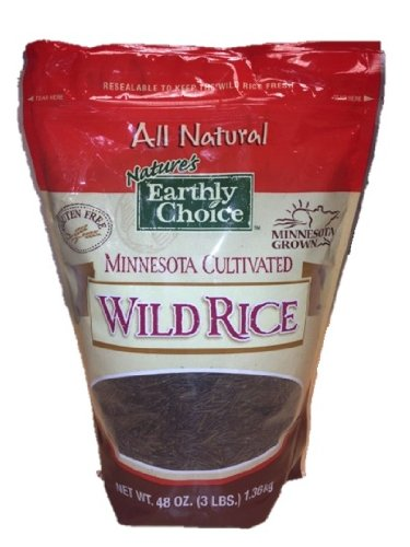 Nature's Earthly Choice Minnesota Cultivated Wild Rice, All Natural, 3 Pounds