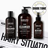 Manscaped Crop Essentials, Male Care Hygiene bundle, Includes Invigorating Body Wash, Moisturizing Ball Deodorant, High performance body Toner (pH balanced) plus FREE Disposable shaving mats