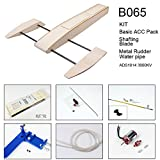Viloga RC Boat for Pool and Lake, 495mm Outrigger Wooden Shrimp Boat Remote Control RC Boat Electric Powered RC Hobby Kits to Build, High Speed RC Racing Boat for Adults Outdoor Adventure