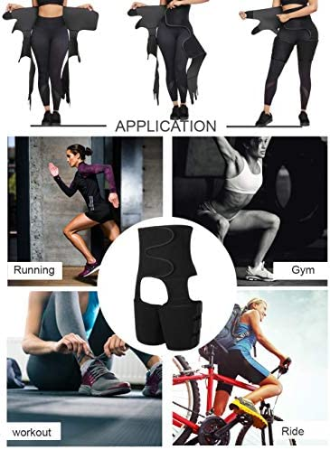 FeelinGirl Neoprene Sweat Waist Trainer and Thigh Trimmer Butt Lifter High Waist Thigh Slimmer Workout Body Belts Fitness 4