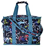 Vera Bradley Insulated Travel Soft Sided Collapsible Cooler Bag with Handles | Adjustable Shoulder Strap | Beach Tote Bag | Travel Friendly | Leak Resistant Cooler | Shore Thing