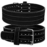 HHR Power Lifting Belt Suede Leather Double Prong Power Belt Gym Bodybuilding 4 Inches 10 MM Thick Weight Lifting Weightlifting Belt for Men & Women Optimal Powerlifting Belts!!!!