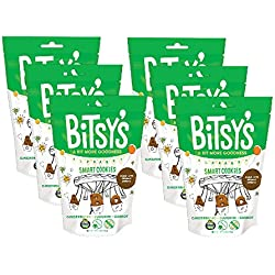 Bitsy's Smart Cookies Gingerbread Zucchini Carrot 5 Ounce Gusset Bag (Pack of 6) Healthy Organic Nut-Free Snacks with Fruits and Vegetables for Kids