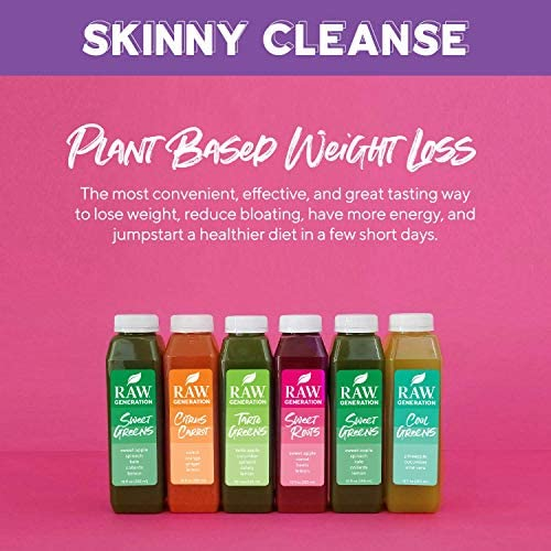 Raw Generation 3-Day Skinny Juice Cleanse for Fast Weight Loss, 100% Raw Plant-Based Detoxifying Cleanse, Healthy Fruits, Vegetables, and Probiotics for Gut Health, 6 Delicious Flavors (18 Count) 5