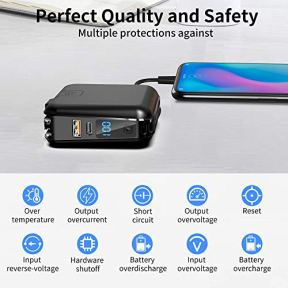 Portable-Charger-with-AC-Plug-15000mAh-Portable-Phone-Charger-18W-PD-QC30-USB-C-Power-Bank-4-Output-2-Input-External-Battery-Pack-Phone-Charger-Built-in-Type-C-2-Cables-Compatible-for-iPhone-etc