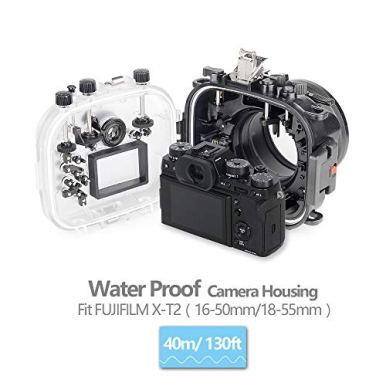 Seafrog-XT2-40M130ft-Waterproof-Housing-Case-Work-for-Fujifilm-X-T2-With16-50mm18-55mm-Lens
