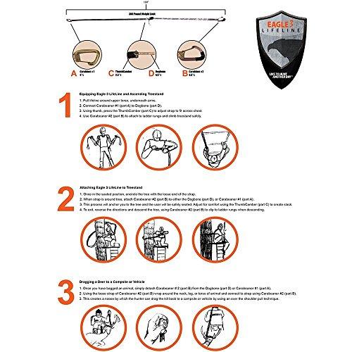 Eagle 3 Lifeline Hunter Safety Ladder Tree Stand Strap System (Single) (Camo)