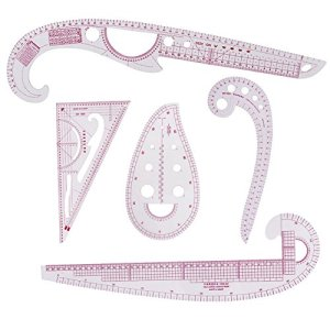 5 Style Sew French Curve Metric Shaped Ruler Plastic Fashion Metric Ruler Sewing Tool Set for Sewing Dressmaking Pattern…