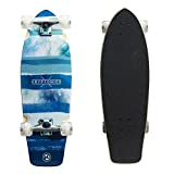 Kryptonics Super Fat Cruiser 30.5 Inch Complete Skateboard - Wide Cruiser Board - Blue Fish