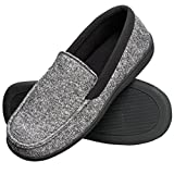 Hanes Men's Slippers House Shoes Moccasin Comfort Memory Foam Indoor Outdoor Fresh IQ (X Large (11-12), Black)
