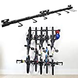 XCSOURCE Bike Storage Rack Holds 5 Bicycles Bike Wall Mounted Bike Hanger Holder Bicycle Storage Rack Garage Storage Systems for Home & Garage,2 Pack