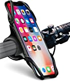 Okra Bike Phone Mount Bicycle Holder for iPhone X 8 7 6 6s Plus, [Web Grip] Silicone Bicycle Motorcycle Universal Grip Cradle Clamp Holder for All Smartphones