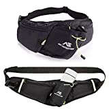 ANT EXPEDITION Fanny Pack Water Bottle Holder Unisex Hiking Waist Packs for Men Women for Walking Running Cycling Lumbar Pack fit iPhone Samsung Phones (Black)