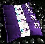 Namaste Yoga Eye Pillows | Lavender Eye Pillows for Yoga | Set of 4 | Purple Cotton by Happy Wraps