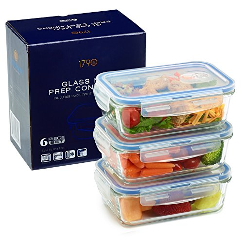 Glass Food Storage Containers With Locking Lids Impressive Glass Meal Prep Containers For Food Storage And Prep W Snap Locking