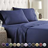 Hotel Luxury Bed Sheets Set Today! On Amazon Softest Bedding 1800 Series Platinum Collection-100%!Deep Pocket,Wrinkle & Fade Resistant (Twin, Navy)