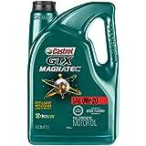 Castrol 03060 GTX MAGNATEC 0W-20 Full Synthetic Motor Oil, Green , 5 Quart