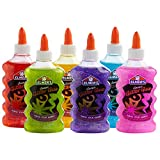 Elmer's Liquid Glitter Glue, Great for Making Slime, Washable, Assorted Colors, 6 Ounces Each, 6 Count
