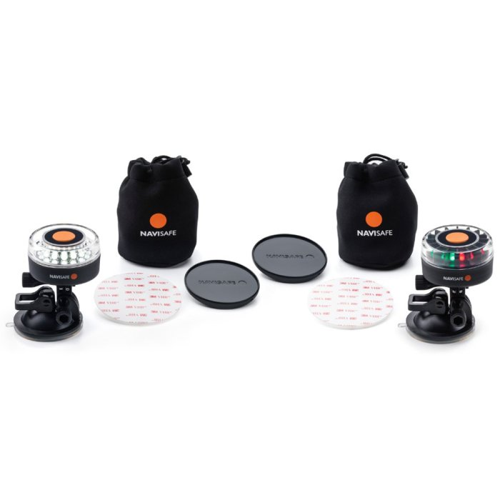 Amazon.com : Navisafe SUP Kayak and Dinghy Boat Light Pack Portable battery powered navigation lights we use to keep our dinghy legal & safe at night.
