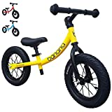 Banana Bike GT - Balance Bike with 12' Alloy Wheels for Kids 2, 3, 4, 5 Year Olds (Yellow New)