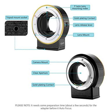 Neewer-Electronic-AF-Lens-Mount-Adapter-Auto-Focus-Aperture-Control-Compatible-with-Nikon-f-Lens-to-Sony-E-Mount-Cameras-for-Sony-A9M2A9A7R4A7R3A7R2A7M3A7M2A6600A6500A6400A6300A6100