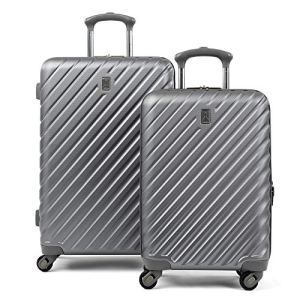Travelpro Citadel Deluxe Hardside Luggage Set with Spinner Wheels, Gunmetal Gray, 2-Piece (20/24) 5