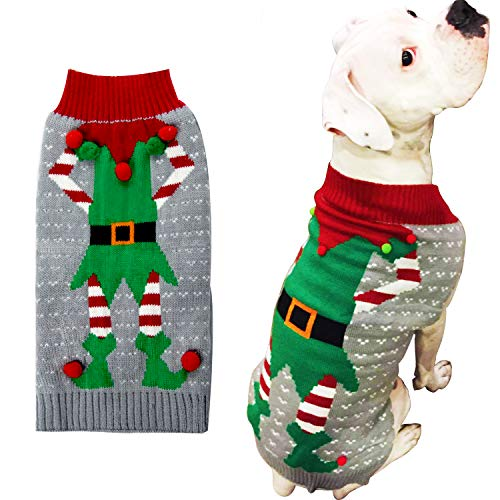 HAPEE Dog Sweaters Christmas Santa Pet Cat Clothes,Dog Accessories, Dog Apparel 1