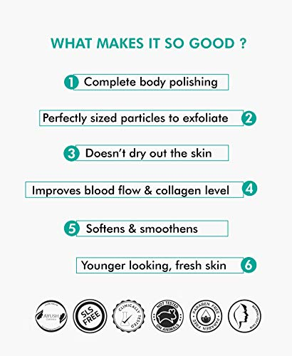 51cHAkmYqRL mCaffeine Naked & Raw Coffee Body Scrub, 100 g | Coconut | Tan Removal | Oily/Normal Skin | Paraben & SLS Free