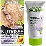 Garnier Nutrisse Ultra Color Hair Color & Anti-Brass Treatment, LB2 Ultra Light Natural Blonde, 2 count