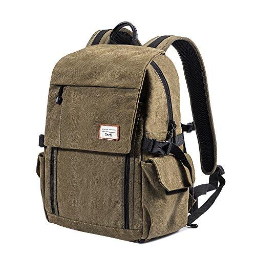Zecti Camera Backpack Waterproof Canvas DSLR Camera Bag