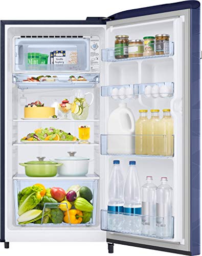51cKJFkMinL Samsung 198 L 4 Star Inverter Direct-Cool Single Door Refrigerator (RR21T2G2XUV/HL, Blue Wave)