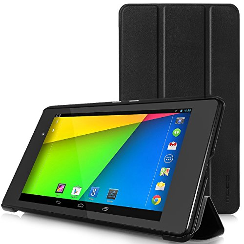 MoKo Google Nexus 7 2013 FHD 2nd Gen Case - Ultra Slim Lightweight Smart Shell Stand Cover Case with Auto Wake/Sleep for Google Nexus 2 7.0 Inch 2013 Generation Android 4.3 Tablet, BLACK