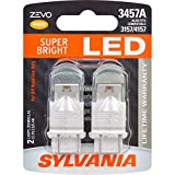 SYLVANIA - 3457 ZEVO LED Amber Bulb - Bight LED Bulb, Ideal for Park and Turn Lights (Contains 2 Bulbs)