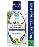 Men's Mega Premium Liquid Multivitamin w/CoQ10, Paba + 100 Additional Vitamins, Minerals, Amino Acids to Support Muscle, Heart & Brain Functions* Max Absorption! - 32 Serv, 32oz