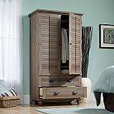 Product review for Salt Oak Wardrobe Armoire Closet Organizer Dresser Wide Vintage Antique Bedroom Furniture