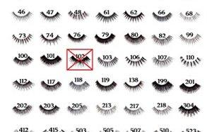 10 Pairs of Red Cherry 100% Human Hair False Eyelashes