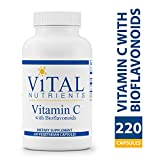 Vital Nutrients - Vitamin C with Bioflavonoids - Vitamin C and Bioflavonoid Formula - 220 Vegetarian Capsules per Bottle