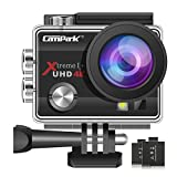 Campark ACT74 Action Camera 16MP 4K WiFi Underwater Photography Cameras 170 Degree Ultra Wide Angle Lens with 2 Pcs Rechargeable Batteries and Mounting Accessories Kits