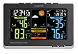 La Crosse Technology (C83349) Wireless Atomic Digital Color Weather Forecast Station with Alerts, 8.34L x 1.03W x 5.48H Inches - Black