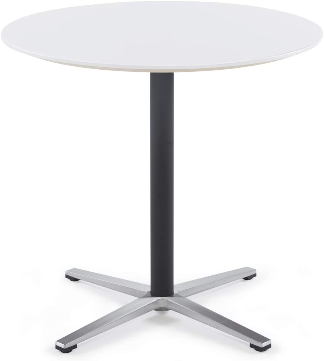 Amazon Com Sunon Round Bistro Table Small Round Table With X Style Pedestal For Pub Table Cafe Table Office Table Cocktail Table Moon White 30 Inch Height Kitchen Dining